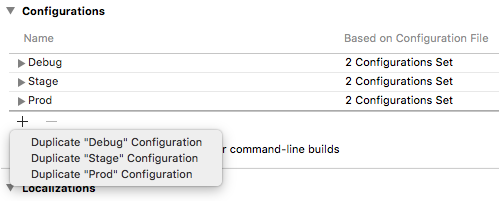 Different iOS build configurations than Debug and Release in React Native