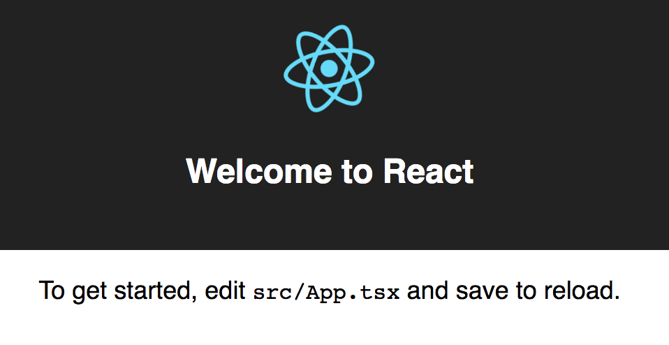 Hello World from create-react-app-typescript