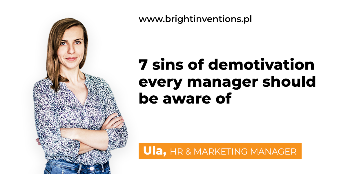 7 sins of demotivation every manager should be aware of